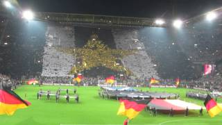 Opening ceremony of football match Germany vs Scotland (Euro-2016 Qualification) Dortmund