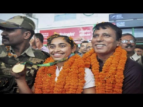 Gymnast Dipa Karmakar Gets Warm Welcome, Missed Bronze at Rio Olympics