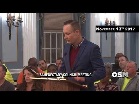 Schenectady City Council Meeting November 13th 2017
