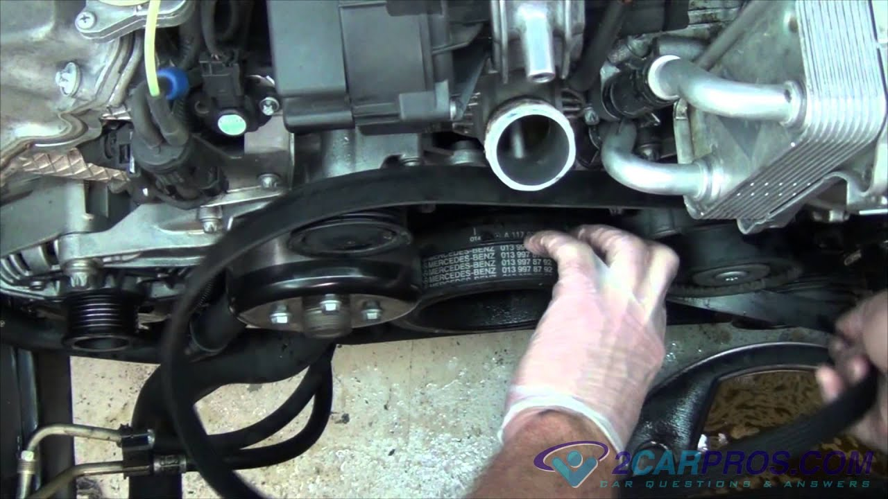 serpentine belt replacement mercedes benz ml 500 1998 2005 [ 1280 x 720 Pixel ]