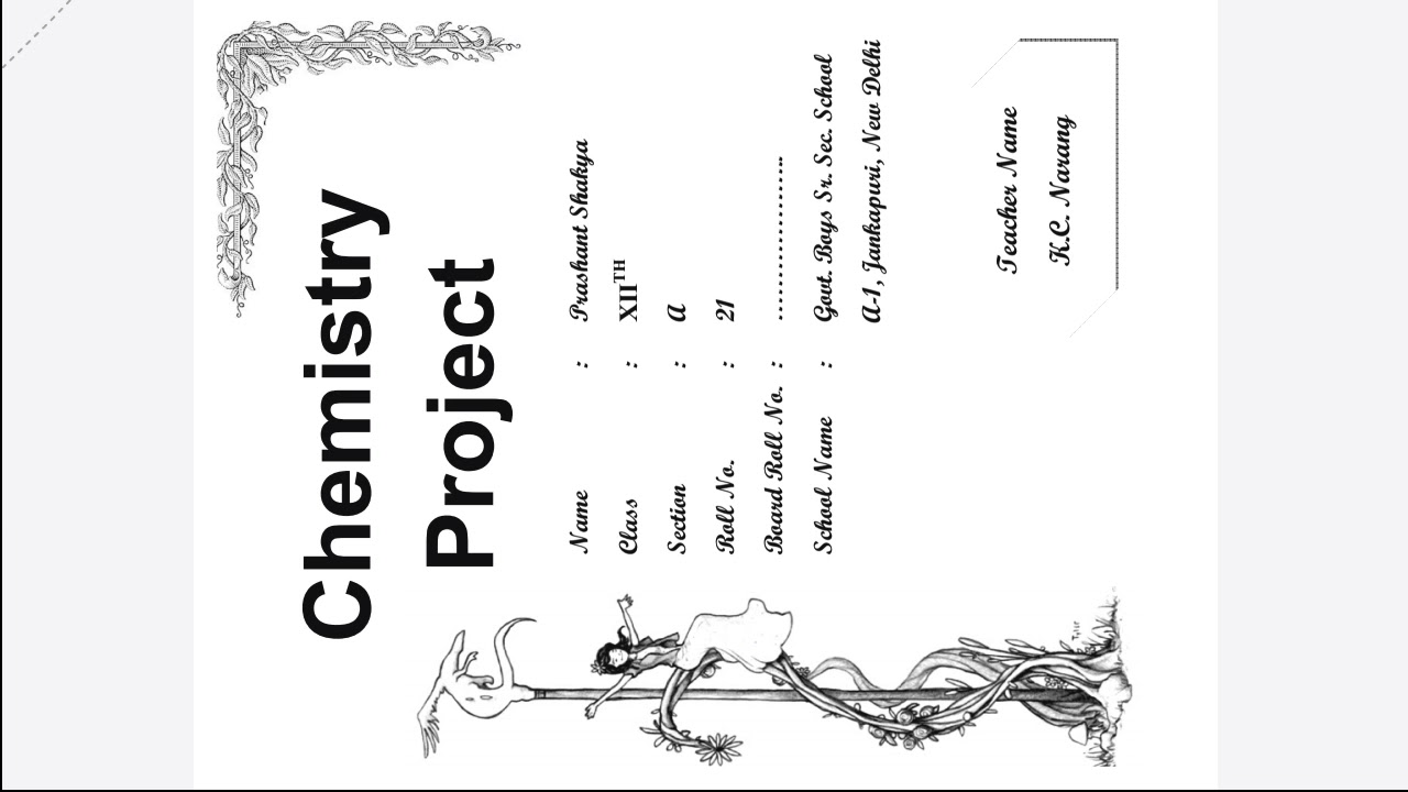 12 Chemistry project on analysis of different brand of