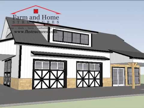 Pole Barn Office - Farm and Home Structures - YouTube