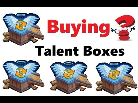 Buying & Opening Level 5 Talent Boxes REALLY Needs Revit Wargod Castle Clash Fame