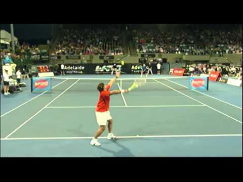 John McEnroe v Pat Rafter    World Tennis Challenge Adelaide 2012