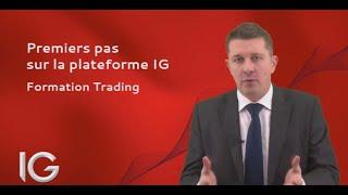 Premiers pas sur la plateforme IG - Formation Trading