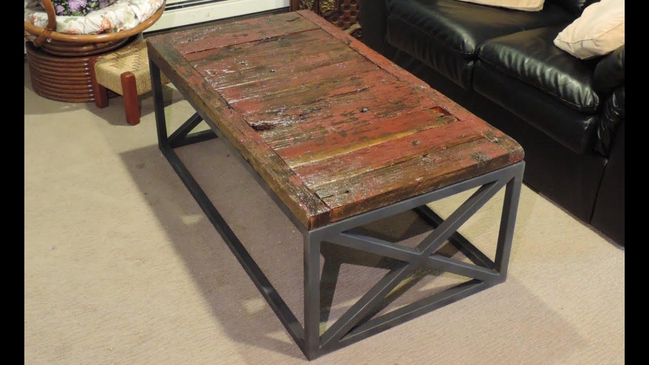 Making a Reclaimed Barnwood Coffee Table - YouTube