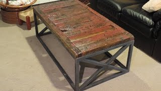 Making a Reclaimed Barnwood Coffee Table