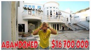 EXPLORING 16 MILLION DOLLAR ABANDONED MANSION!!