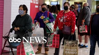 Crowds gathered for post-Thanksgiving deals despite COVID-19 warnings