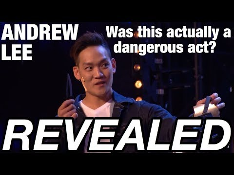 REVEALED - Andrew Lee's Knife Throwing Magic Trick on BGT!
