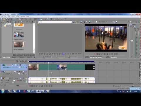Как отделить аудио от видео в sony vegas