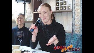 Наталья Тетенова на пресс-конференции 4-го фестиваля авторского короткометражного кино «МИКРОФЕСТ»