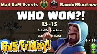 THIS WAR WAS WAY TOO CLOSE! - 5v5 Friday - Clash of Clans