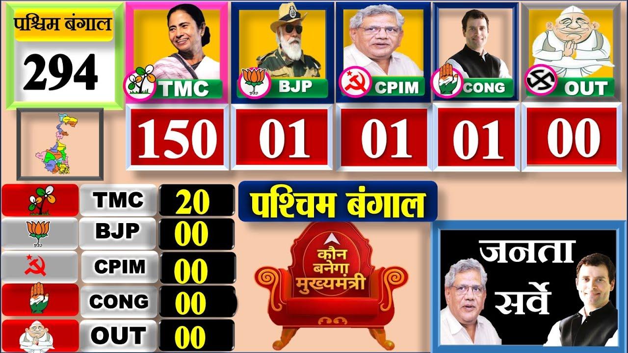 Download West Bengal Assembly Election 2021 Opinion Poll  পশ্চিমবঙ্গ নির্বাচন জনমত পোল Exit Poll TMC BJP CPIM