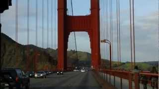 Driving over the Golden Gate Bridge, SF, CA