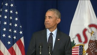 Obama uses speech in Illinois to urge people to vote, slams Trump