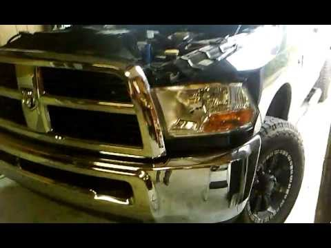 how to replace remove headlights on dodge ram 2009 2010. Black Bedroom Furniture Sets. Home Design Ideas