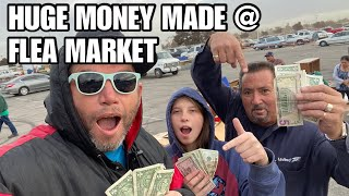 HOW TO MAKE MONEY @ FLEA MARKET ! FAST Profit margin is the name of the storage auction game