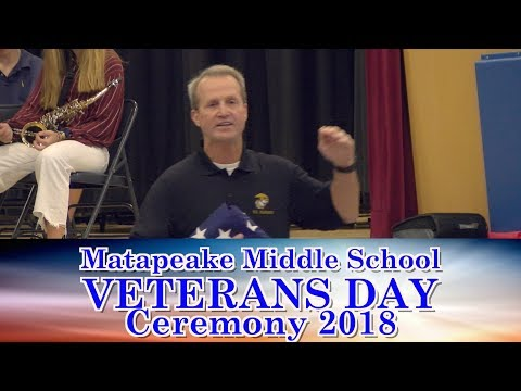 Matapeake Middle School Veteran Day Ceremony 2018