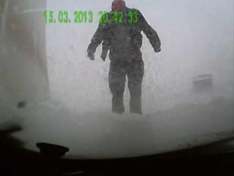 Трасса М1 Москва-Минск ужасное ДТП ураган Хавер (15.03.2013) Route M1 Moscow-Minsk hurricane Haver