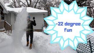 Polar Vortex science experiments -22 degree fun