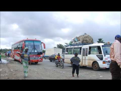 What you see at a road Junction in Cameroon - Tiko Douala Junction