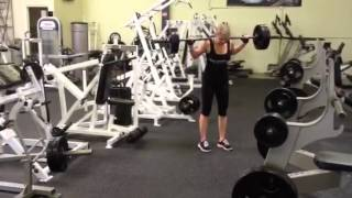 Desiree walking lunges with 135lbs