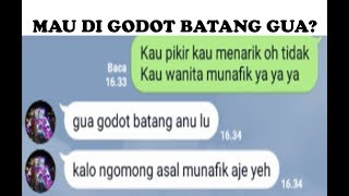 Video MAU DI GODOT BATANG GUA GAES? (PRANK CHAT WANITA MUNAFIK) download MP3, 3GP, MP4, WEBM, AVI, FLV Maret 2018