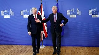 The big Brexit talks have kicked off in Brussels, with both sides s...