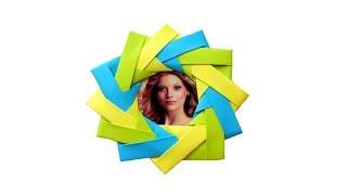 Фоторамка из бумаги. Оригами рамка для фотографий
