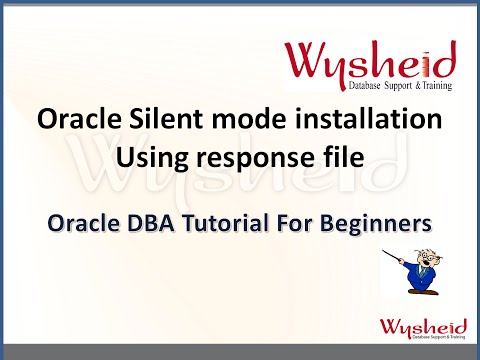 How to install Oracle RDBMS software in silent mode   Install Oracle using response file