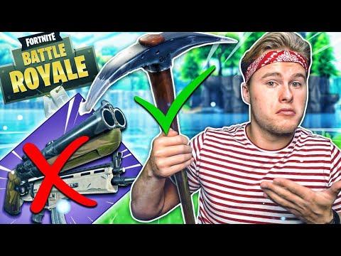 HOELANG KAN JE OVERLEVEN MET ALLEEN DE PICKAXE?! - Fortnite Battle Royale (Nederlands)