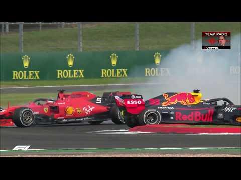 Vettel Collides With Verstappen At Silverstone | 2019 British Grand Prix
