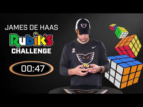 Rubik's Cube Master James De Haas
