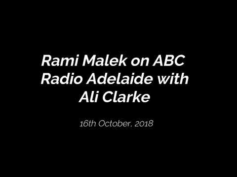 Rami Malek on ABC Radio Adelaide with Ali Clarke