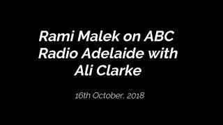 Rami Malek on ABC Radio Adelaide with Ali Clarke