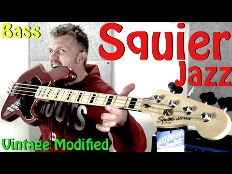 Squier Vintage Modified 70s Jazz Bass Review SWEET!