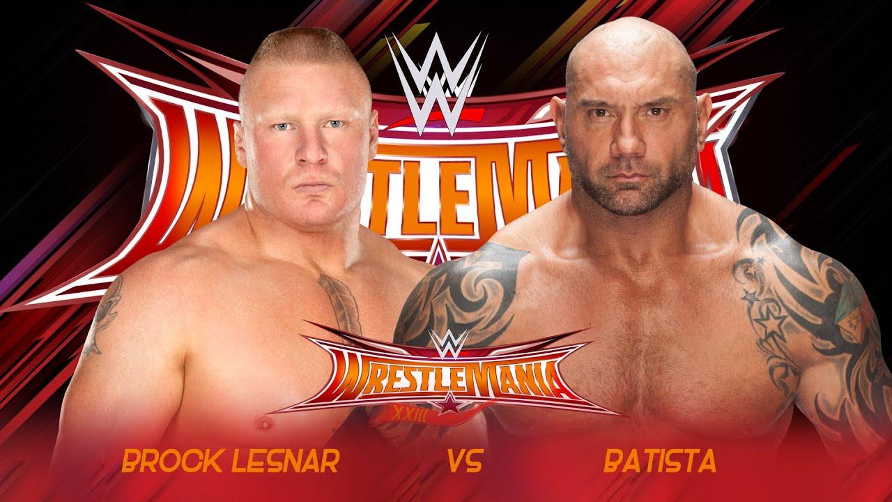 Batista vs Brock Lesnar Wrestlemania 33 Promo - HD - YouTube