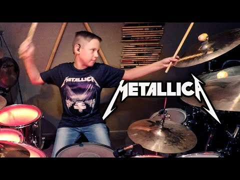 MASTER OF PUPPETS (10 year old Drummer) Drum Cover by Avery Drummer