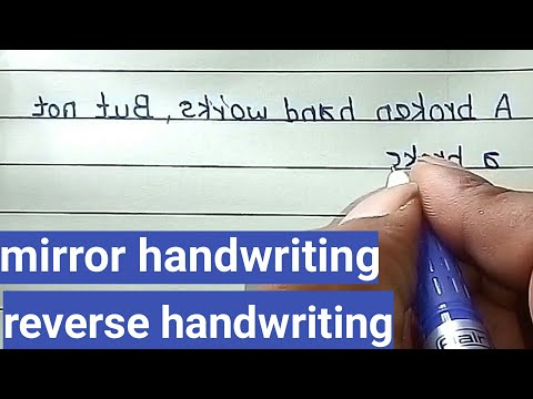 Mirror handwriting | how to write reverse | mirror handwriti