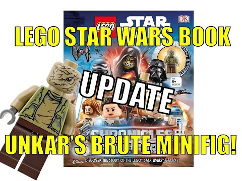 LEGO DK BOOK STAR WARS CHRONICLES OF THE FORCE UNKAR'S BRUTE MINIFIG!