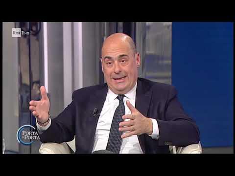Nicola Zingaretti sulla riforma della giustizia - Porta a porta 21/01/2020