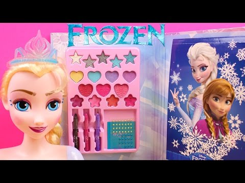Juguetes de Frozen en español    Manicura Maquillaje y Peinados Muñeca Elsa Frozen