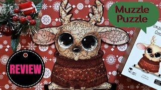 Muzzle Puzzle | Деревянные пазлы | Знакомство с брендом | Обзор на пазл Рождественский Оленёнок