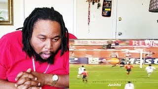 Top 10 Outstanding Curved Free Kicks REACTION