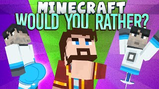 minecraft minigames would you rather games with sips