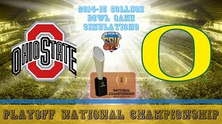 College Football Playoff Championship Sim - Oregon vs Ohio State (NCAA Football 14 - Xbox 360)
