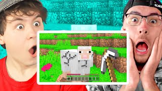 2 YOUTUBER REAGIEREN AUF DUMME FALLEN in MINECRAFT (ROMAN ISST im VIDEO)