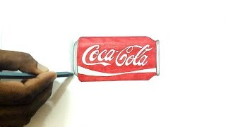 How to Draw a Coke Can