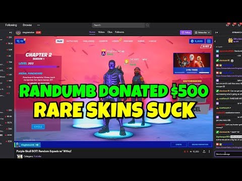 I Donated $$$ To Rare Skin Streamers On Fortnite... (are They Good?)